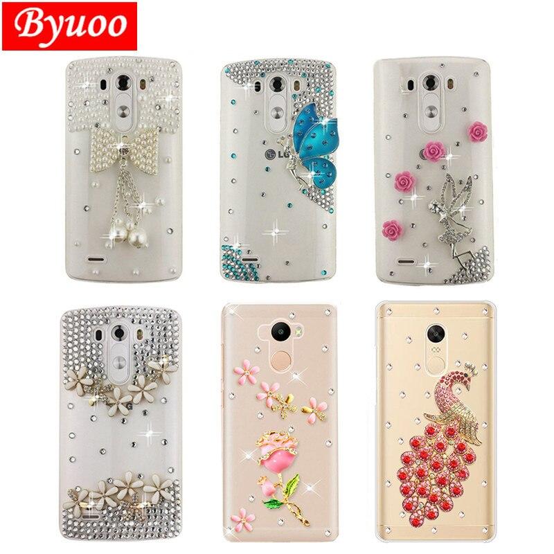 Women Rose Rhinestone Case Cover For LG Stylo 3 4 5 V30 V20 G5 G6 G7 Thinq V40 Q60 Q6 X Power 2 G4 Stylus K50 K8 K10 2017 Phone