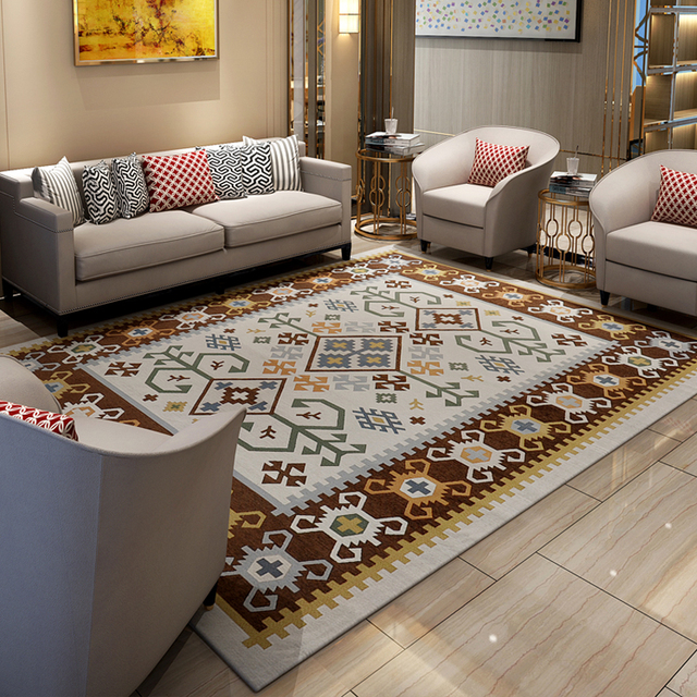 Turkey Style Carpets For Living Room Home Bedroom Rugs And Modern Simple Coffee Table Area