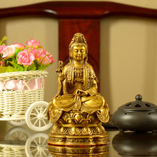 Chinese Charm Buddha Statue Kwan Yin Statues and Sculptures for Good Luck & Happiness Home Desk Decorations