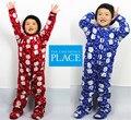 Crianças livres do transporte pijamas fleece romper crianças macacão outono inverno roupa interior para 4-8 anos Crianças saco pés macacão