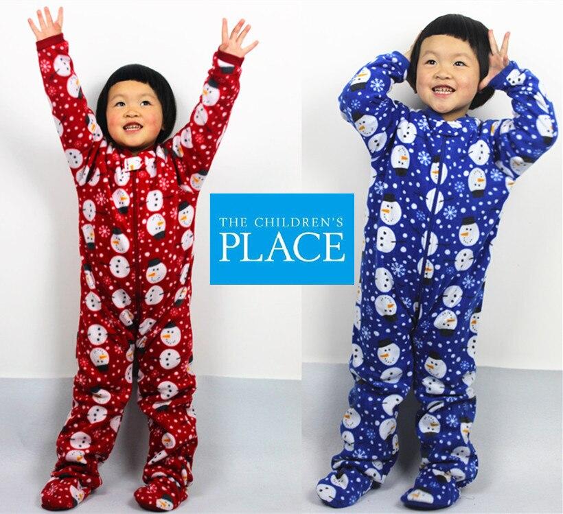 Livraison gratuite Enfants de nuit polaire barboteuse enfants combinaison sous-vêtements automne hiver pour 4-8 ans Enfants sac pieds salopette