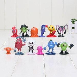 12 шт./лот Pac Man Cute cartoon Ghostly Adventures, экшн-фигурки Pacman Pixels, фигурки из фильмов, игрушки для детей