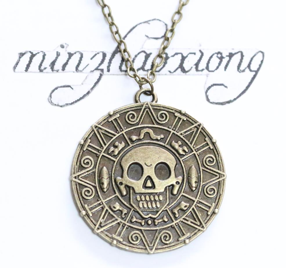 Pirates of the Caribbean Coin Necklace kitsch Vintage ...