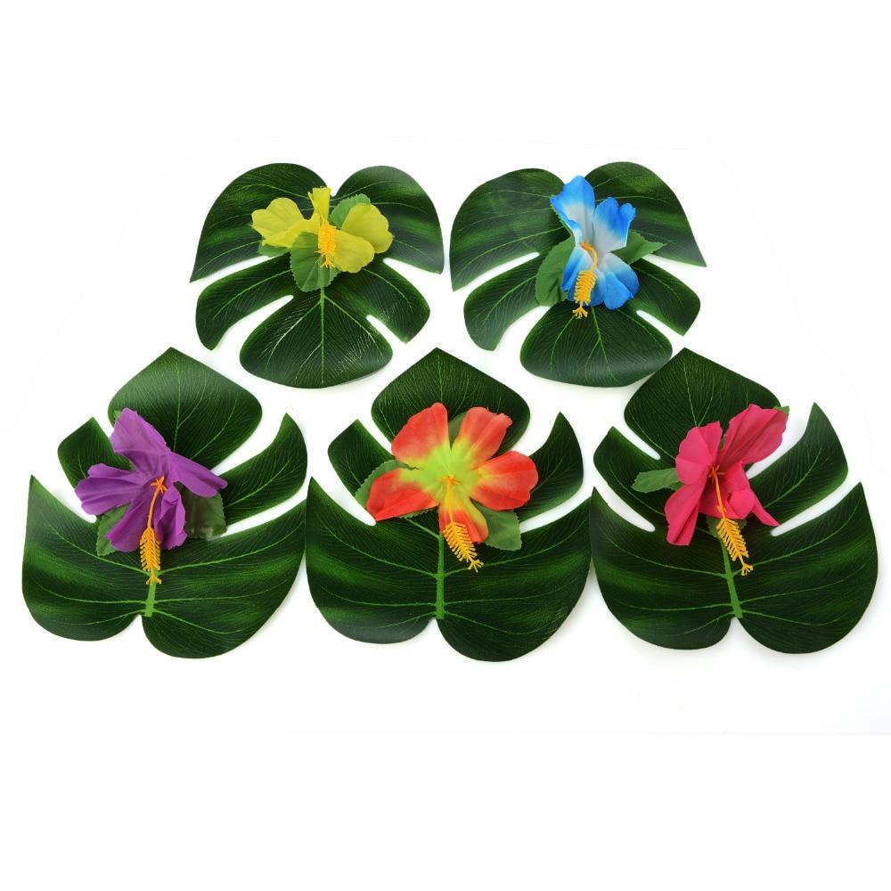 54Pcs Decorazione del partito Forniture Foglie di palma tropicale - Per vacanze e feste