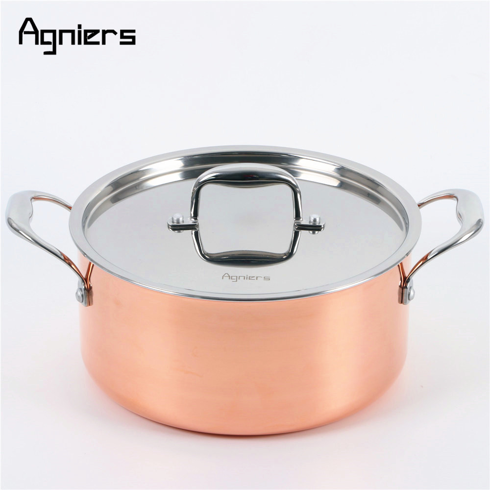 Medium Of Copper Pot Set