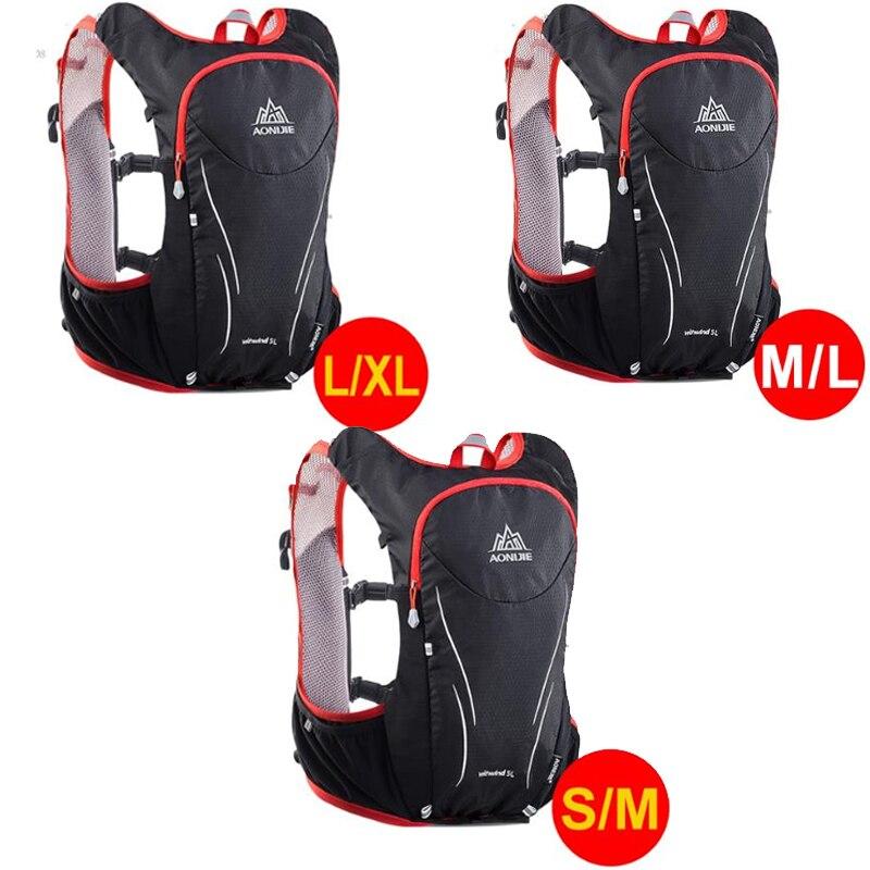 2018 AONIJIE 5L sac à dos de sport de plein air femmes/hommes Marathon gilet d'hydratation Pack pour échange cyclisme randonnée sac d'eau courante - 6