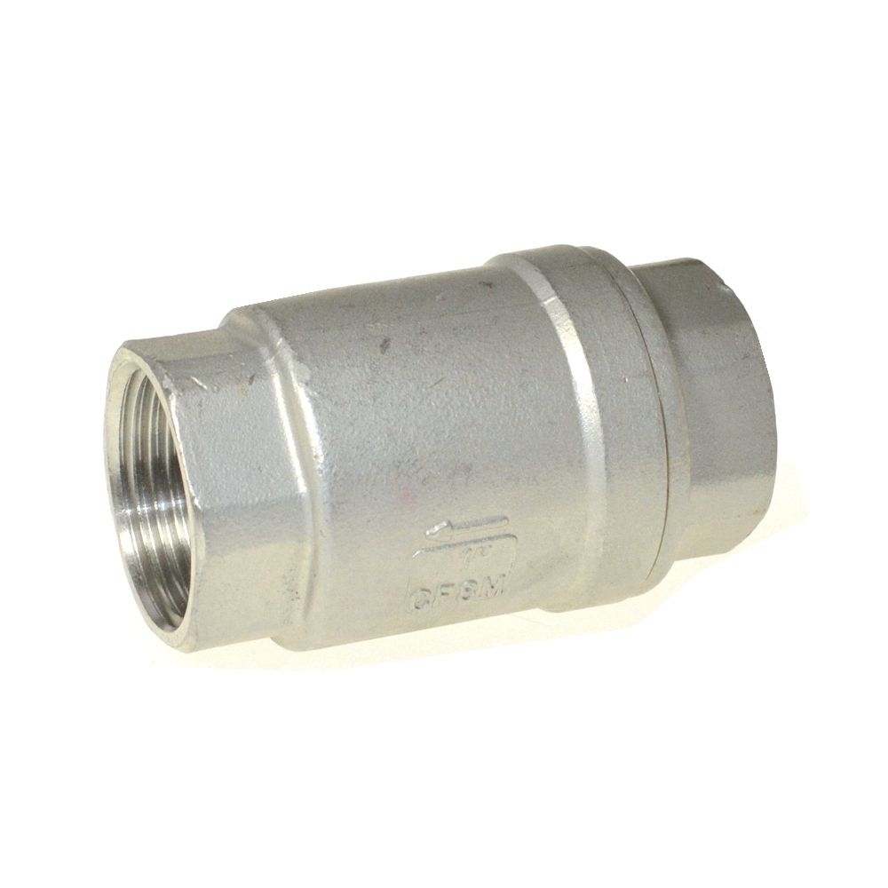 1pc DN50 Stainless Steel (304) In Line Spring Check Valve 1pc dn50 stainless steel 304 in line spring check valve