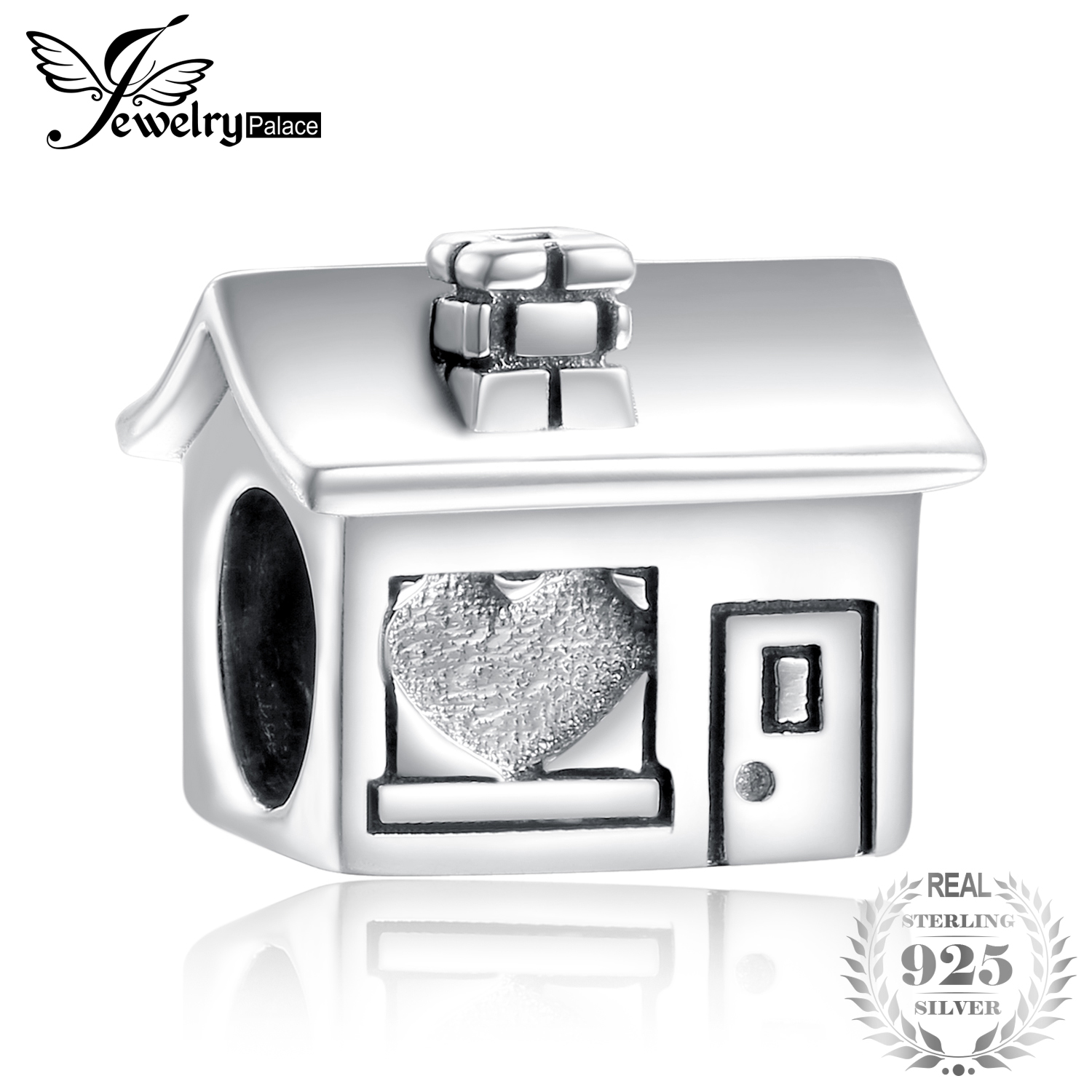 JewelryPalace 925 Sterling Silver Heart Shape Window House Bead Charm Fit Bracelets Fashion DIY Bead Charm For Women BraceletsJewelryPalace 925 Sterling Silver Heart Shape Window House Bead Charm Fit Bracelets Fashion DIY Bead Charm For Women Bracelets