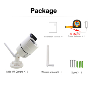 Image 5 - IP המצלמה Wifi 1080P 960P 720P חיצוני אבטחת CCTV מעקב 3 מטר כוח מתאם אלחוטי אודיו Onvif HD מצלמת בית מצלמה