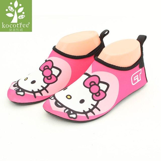 ילדי מים יחף נעלי בני בנות מקורה כפכפים ילדים רך sole תינוקות תינוק נעלי מים שחייה גלישה החלקה נעליים