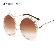 Newest Fashion Carlina Round Wire-Frame Sunglasses 2016 New Vintage Fashion Sun Glasses Women Brand Designer MA164