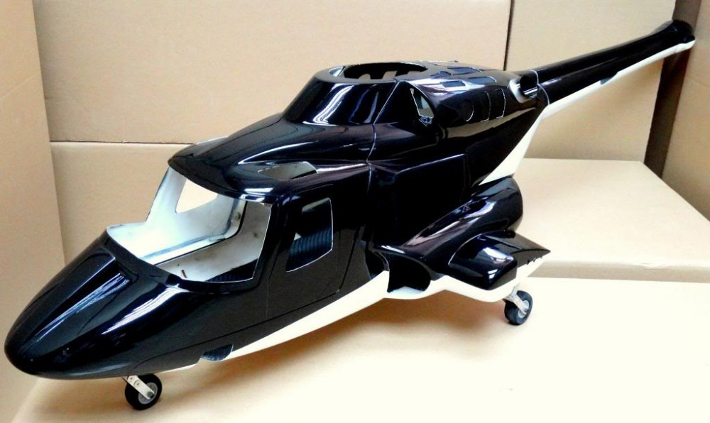 New version Airwolf 600 RC helicopter fuselage W/Retracts