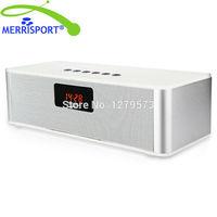 MERRISPORT Draagbare FM Radio Draadloze Bluetooth 4.0 HIFI Luidspreker 10 W Alarm klok Handsfree Bellen Mic Micro TF Sd-kaart USB AUX
