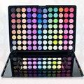 96 Colores de Sombra de Ojos Nacarado Mate Caja con 2 Cepillos Cosméticos de Larga Duración Natural Producto de Maquillaje de Sombra de Ojos