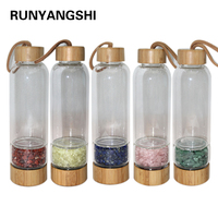 Wholesale Natural Quartz Irregularity Crystal Gravel Bottle Glass Water Gravel Stone Cup Gift giving Drinkware