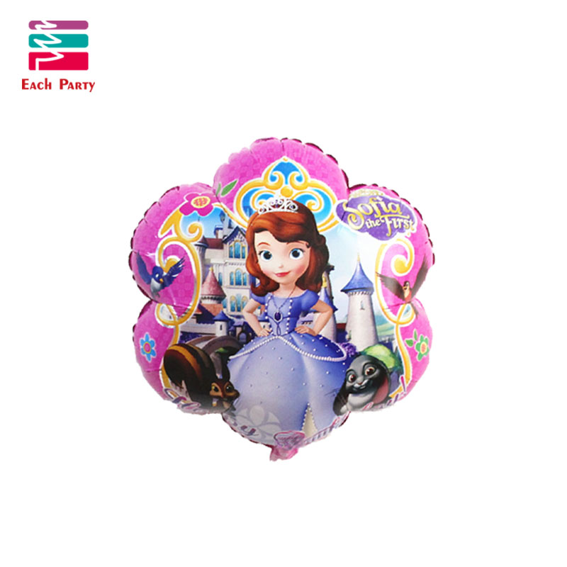 5pcs/lot Princess sofia birthday Balloons suit helium balloon princesa sofia festa decoracao Kids Inflatable party decorations