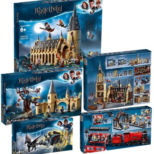 Harri Potter Movie Castle Hall 39144 39145 39146 39149 39150 Compatible With Model Building Block Bricks Toys No Box
