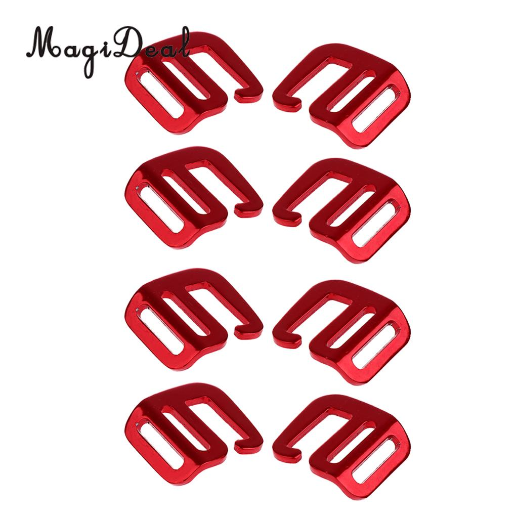 MagiDeal 8 Pcs 1 inch G Hook Outdoor Webbing Buckle for Backpack Strap 25mm Red браслеты page 9