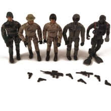 5Pcs/Lot Soldiers Toys Russian Counter-Terrorism Special forces Commando 1/18 model Action Figure SWAT MovableToys