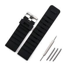 Силиконовый ремешок мужские аксессуары для часов Пряжка 24 мм