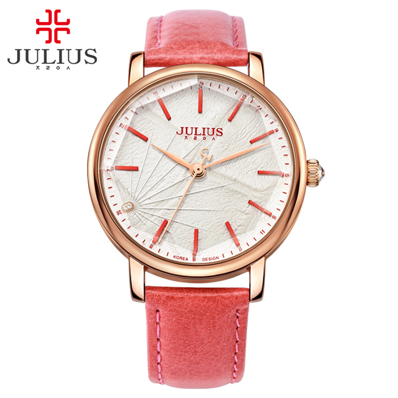 ФОТО JULIUS Ladies Designer Watches Luxury Watch Women 2017 Pink Quartz Watches For Women Prices Cheap Watches China Dropship 888A