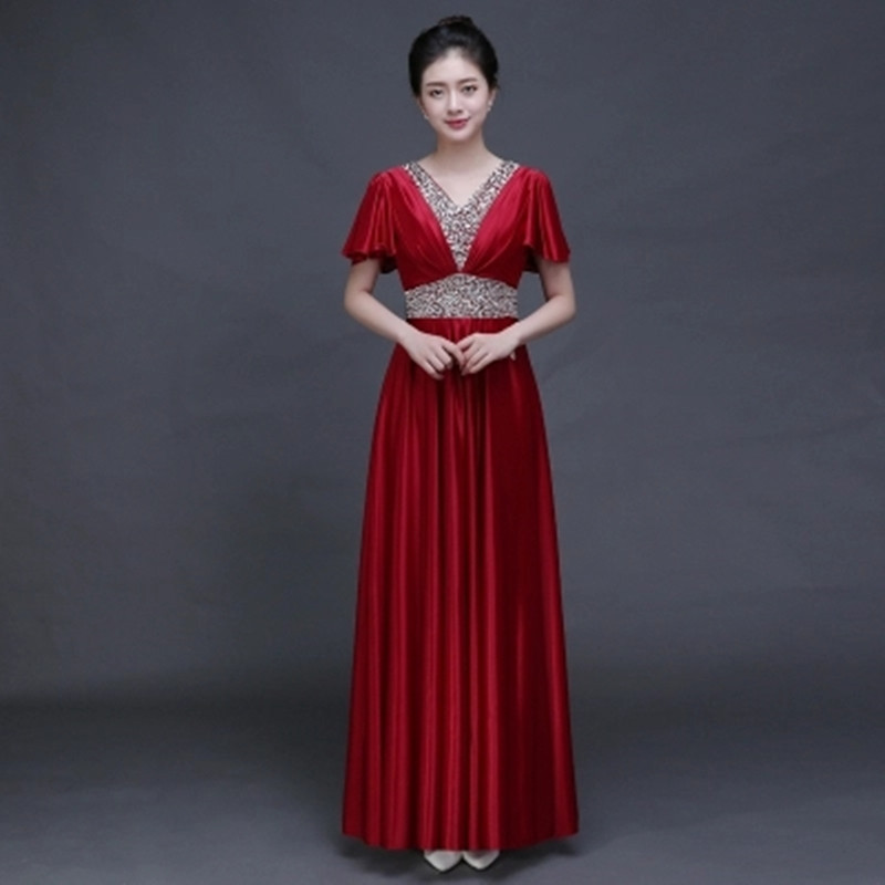 Satin Long Dress Woman 2017 font b Custom b font Plus Size 7XL font b Womens popular womens custom clothing buy cheap womens custom clothing,7xl Womens Clothing