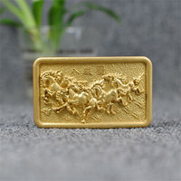 Solid Brass Belt Buckle Men Wide Belt Diy Accessories 3D Horse Belt Buckle High Quality Slide