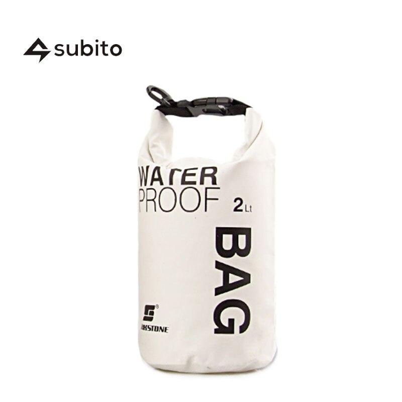 Prix pour SUBITO Sec Sacs Camping En Plein Air de Haute Qualité Imperméable À L'eau 250D PVC Sec Sac 2L Sport Sac Compresser Ultralight Étanche Dry Sacs