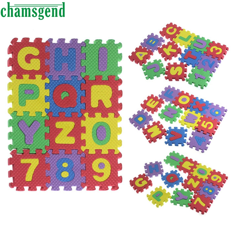 36Pcs Baby Child Number Alphabet EVA Puzzle Foam Maths Educational Toy Gift A81