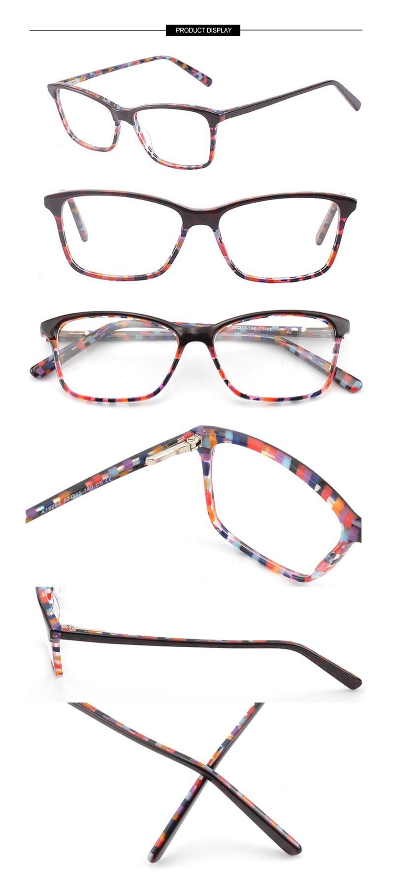 Kirka Optical Glasses Women Eyeglass Frames Spectacle Frames For Women Leopard Print Prescription Glasses Frame