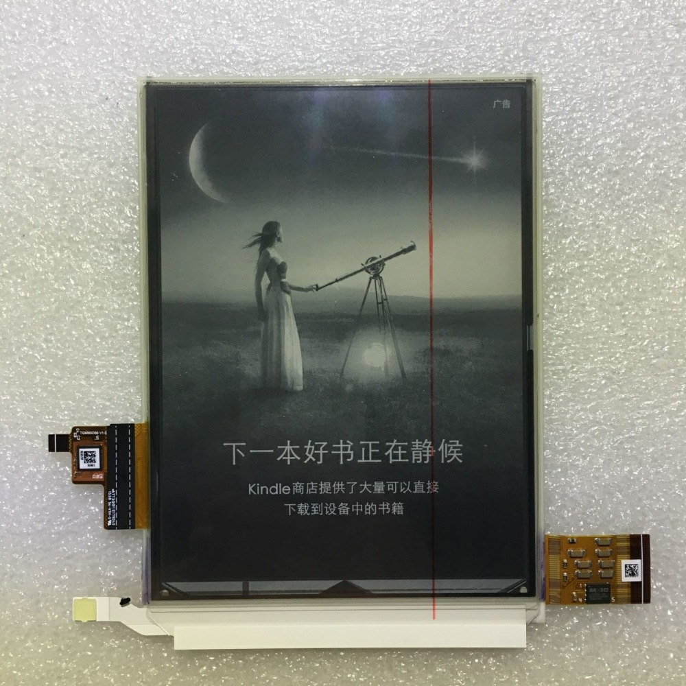 ED060KD1 display Lcd para Kindle Paperwhite 3 leitor de E Preto 6 Display de Alta Resolucao