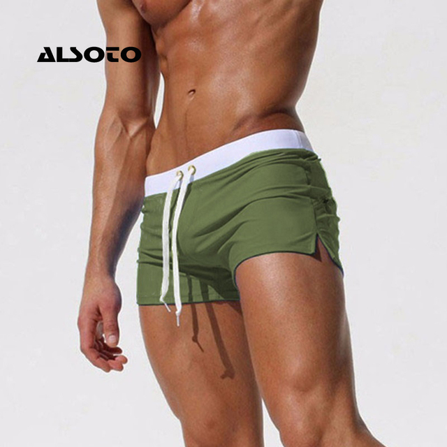 New Fashion Swimwear Men Breathable Men's Swimsuits Trunks Boxer Briefs Sunga SwimSuits Maillot De Bain Beach Shorts 1