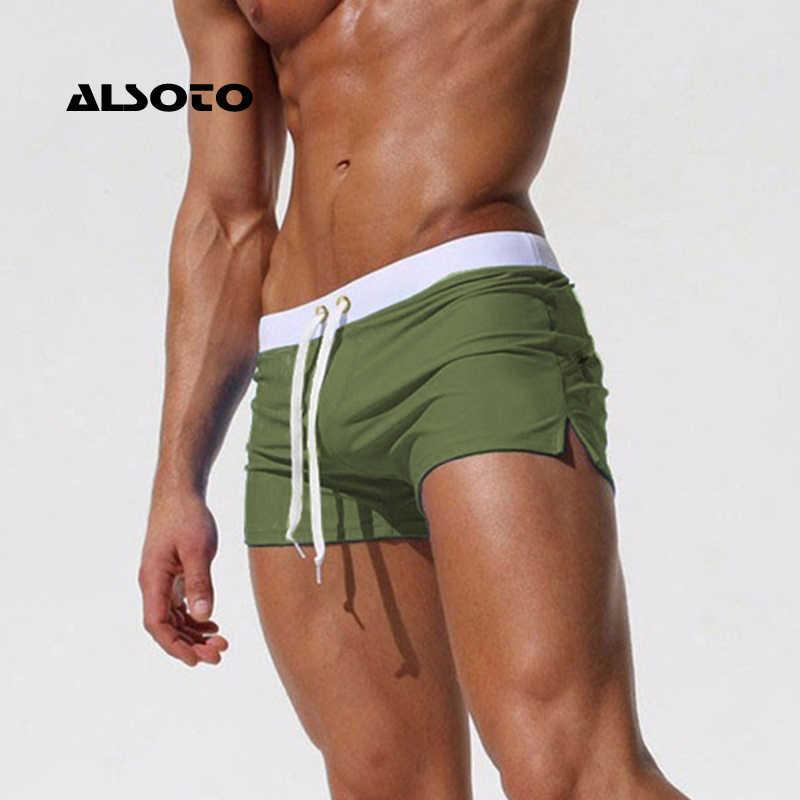 Neue Mode Bademode Männer Atmungs männer Badeanzüge Badehose Boxer Briefs Sunga Badeanzüge Maillot De Bain Strand Shorts