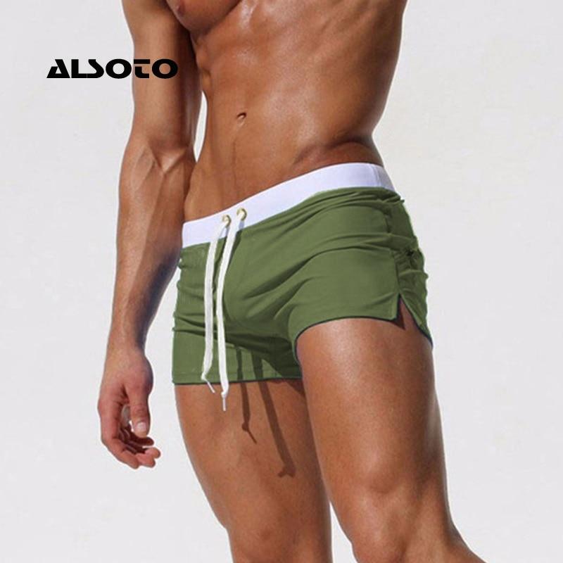 New Fashion Swimwear Men Breathable Men's Swimsuits Trunks Boxer Briefs Sunga SwimSuits Maillot De Bain Beach Shorts
