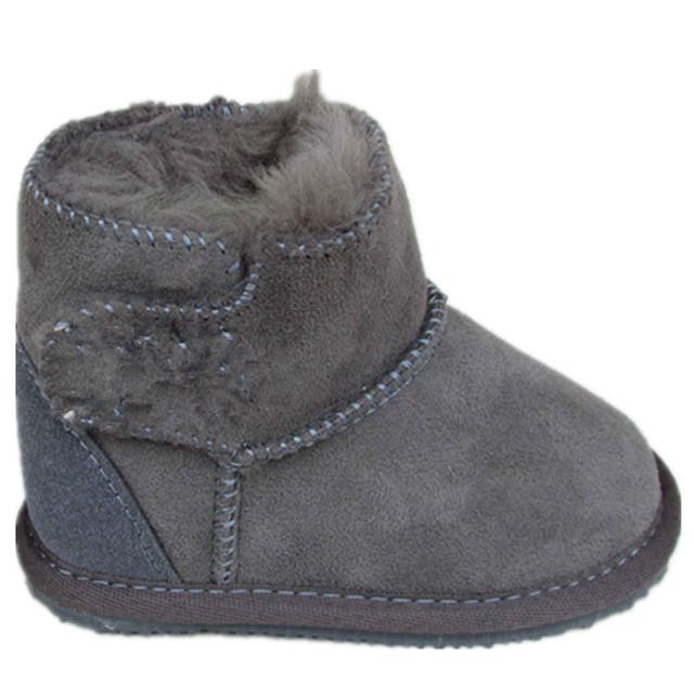 Bebé shoes botas de nieve para niños 2016 de invierno genuino botas de cuero para muchachos de las muchachas de nueva felpa shoes niños botas con piel caliente botas