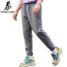 Pioneer camp 2019 new arrival brand men casual pants clothing fashion loose plaid trousers quality cross-pants male