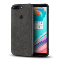 Genuine Leather shock resistant water proof Phone Case For Oneplus 5 5T Suede leather cases