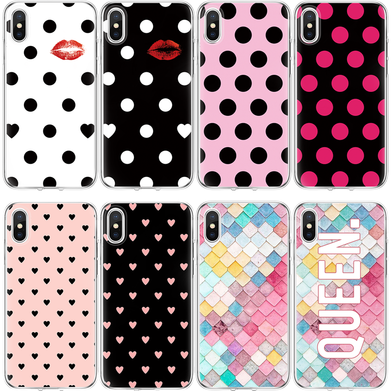 Точечный чехол для iPhone 4 4S 5s SE 5C 6 S 6 S 7 8 Plus X TPU чехол для Xiao mi Red mi S2 4A 3S mi A1 5X Note 3 4 4X 5A 5 Pro