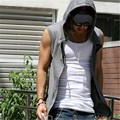 2017 M-4XL Men's Hooded Vest New Arrivals Solid Casual Slim Zipper Waistcoats Fashion Plus Size Sleeveless Male Coats 62798