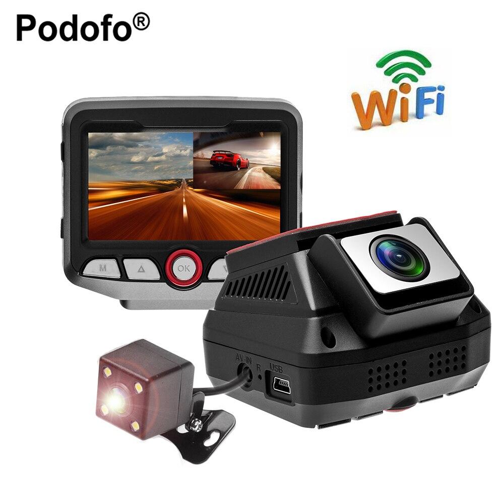 Podofo Voiture DVR 2.45 WiFi Novatek 96658 Caméra Full HD 1080 P Enregistreur Vidéo Registrator Caméscope De Voiture Dvr Avec Caméra de Recul