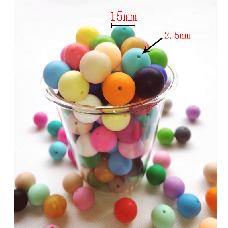5pcs/lot Silicone Beads 15mm Silicone Hexagon Baby Pacifier Dummy Teething Beads DIY Bracelets Chewing Jewelry Teethers Necklace