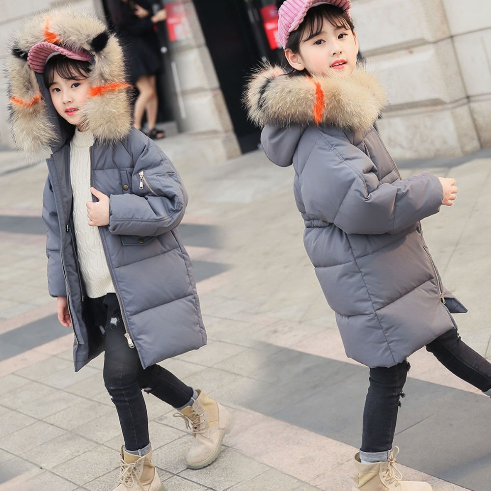 Christmas Baby Down Padded Winter Coat Girls Long White Duck Down Coat Winter Girls Black Grey Red Pink Teenage Kid Coats Jacket women s quilted bomber jacket new casual short down knitted long sleeve open front button classic solid padded coat black