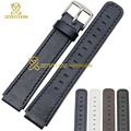 Smart wristwatches band Genuine leather watchband 18*15mm accessories watch strap bracelet for huawei B2 blue black white brown