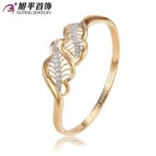 Xuping brazalete de moda del encanto del regalo de moda Multicolor chapado en oro sintética CZ joyería del brazalete de oro para mujer la alta calidad S5-51133