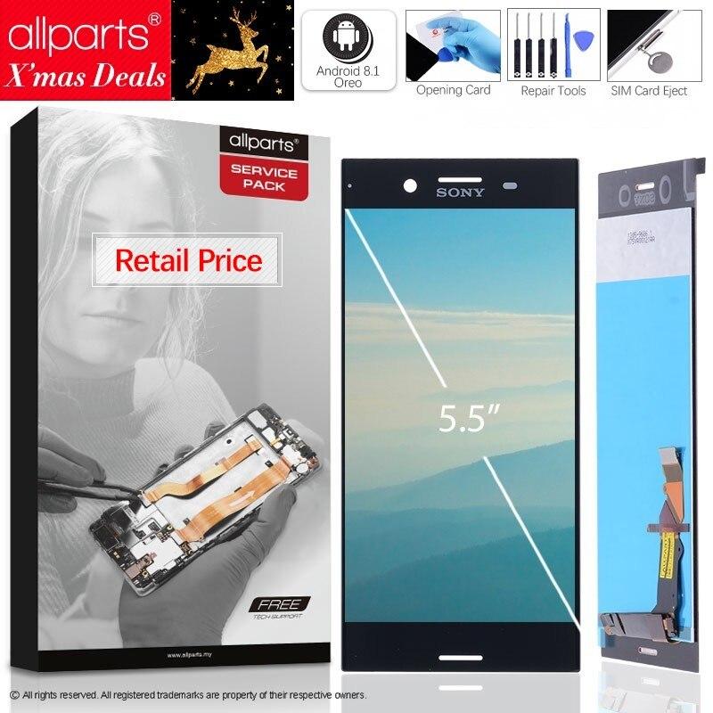 5.5 4К IPS Оригинальный тачскрин дисплей экран дляSONY Xperia XZ сенсорный дисплей Оригинал LCD с тачскрином в рамке замена запчасти G8142 G8141 красный си...
