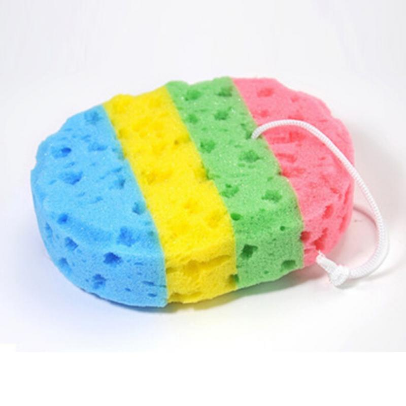 Rainbow Color Kids Bath Sponge Bath Scrubber Shower Spa Body ...