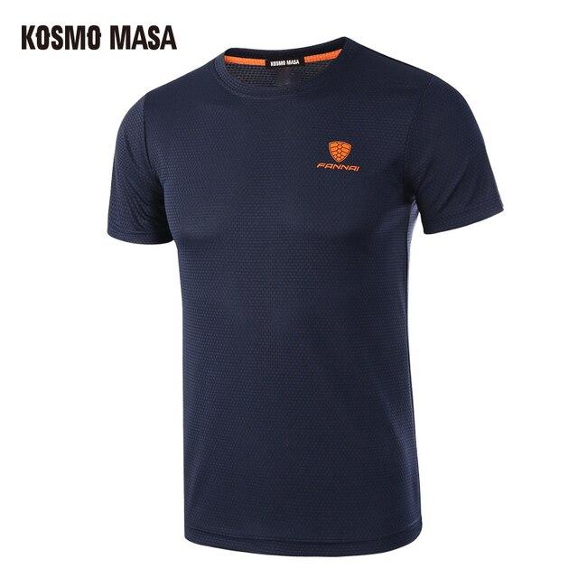 KOSMO MASA 2019 Dos Homens de Secagem rápida Respirável T-Shirt de Fitness Verão de Manga Curta Camiseta Homens Plus Size Camisa de T Camisas MC0278