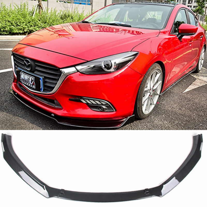 for Mazda 3 Axela sedan Front lip 2014 appearance ABS plastic three section front shovel front