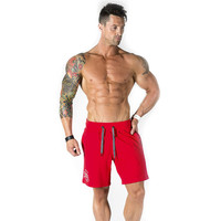KORKSLORES New 2018 Top Quality Men Casual Brand Gyms Fitness Shorts Men Professional Bodybuilding Short Pants
