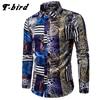 T Bird 2017 Spring Autumn Features Shirts Men Casual Dress Shirt New Arrival Long Sleeve Casual